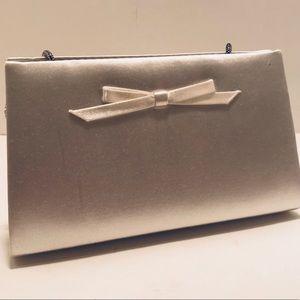 Handbags - White Satin Clutch Purse